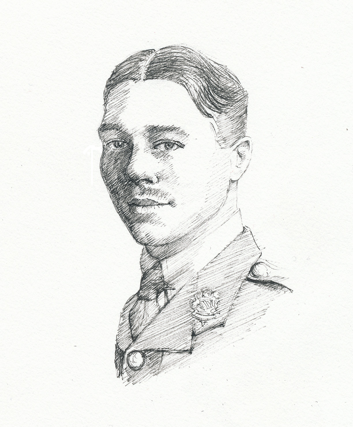 Wilfred Owen, drawing for Claire Jones' anthology, 'This Is Who I Am'