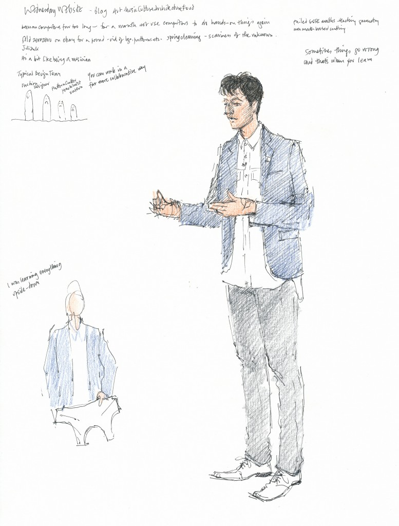 event illustration, Sarah Godsill - Bath in Fashion - Julian Roberts, Subtraction Cutting