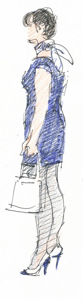 event illustration - Sarah Godsill, Bath in Fashion, vintage fashion fair
