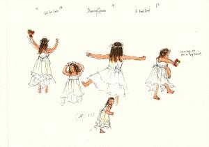 Isabel dancing, Girona wedding