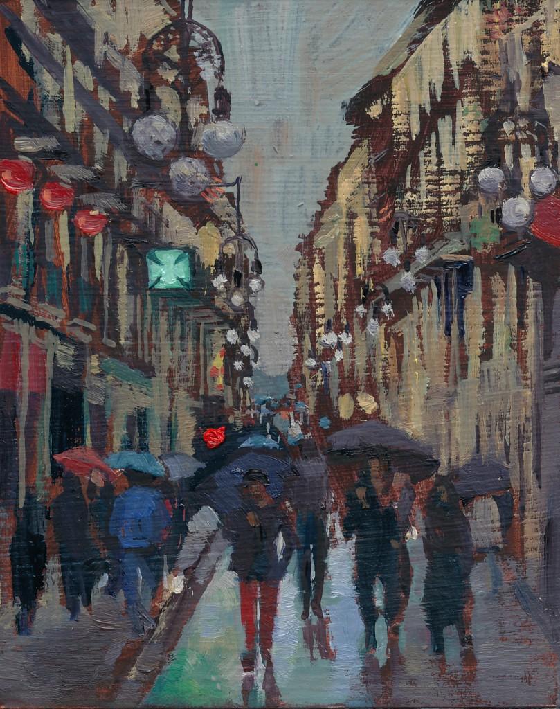 Rain on Calle Ferran/Pluja al Carrer Ferran